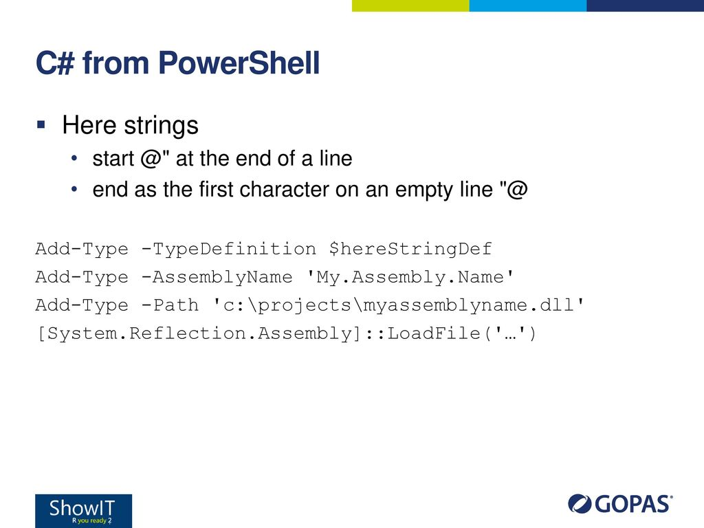 PowerShell for Developers - ppt download