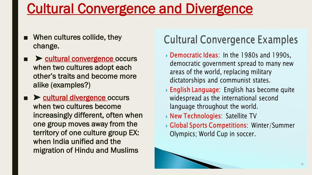 cultural convergence examples