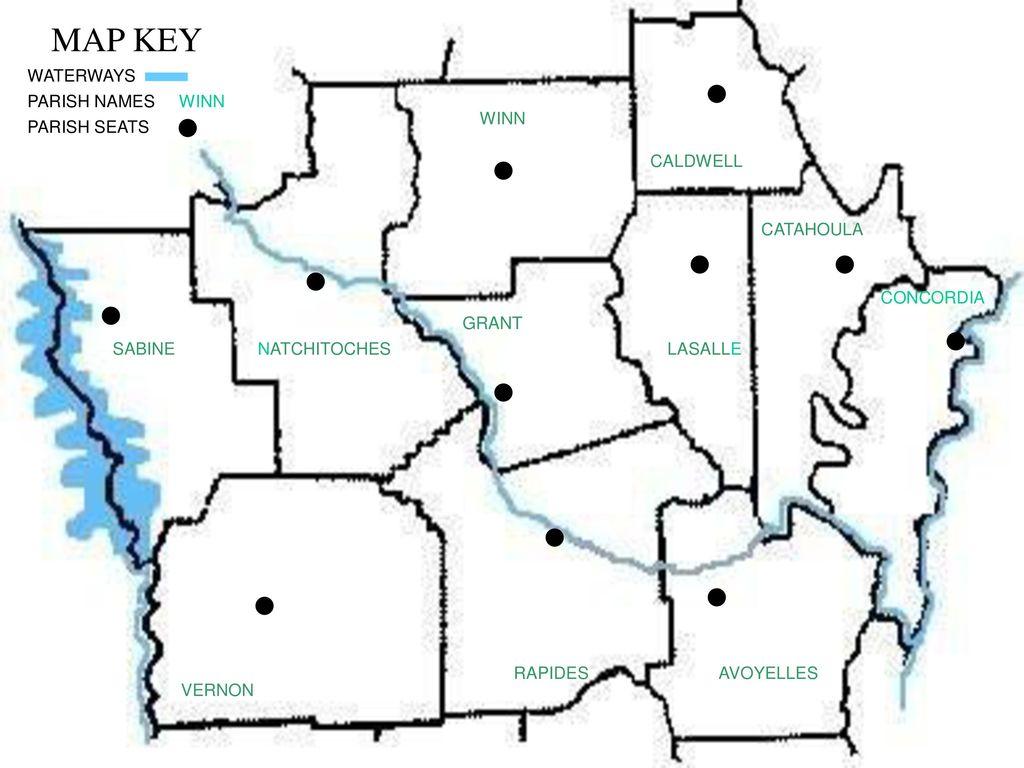 map of louisiana parishes and parish seats Map Day Central Louisiana Ppt Download map of louisiana parishes and parish seats