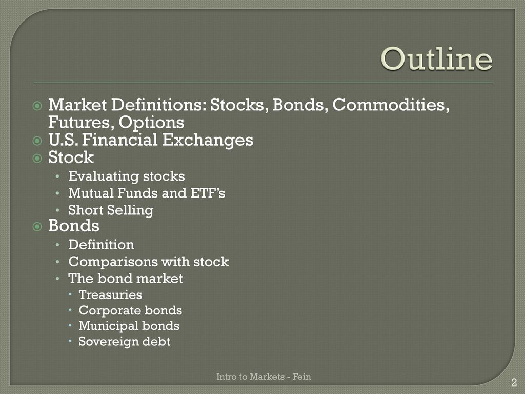 an introduction to u.s. financial markets and investing - ppt download