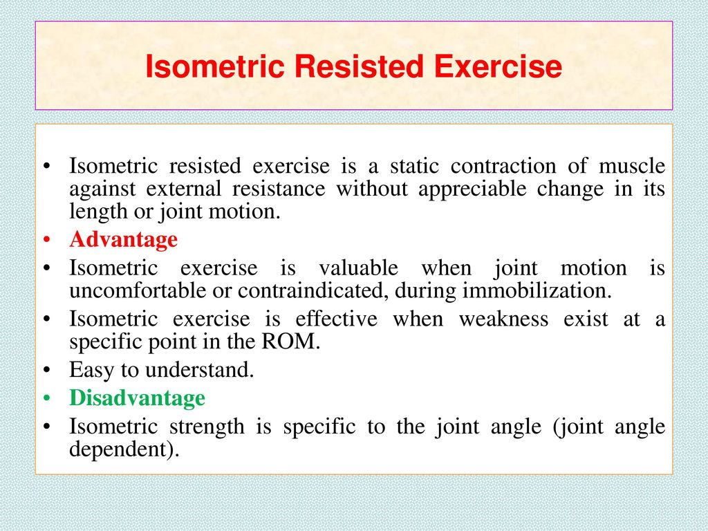 RESISTANCE EXERCISE RESISTANCE EXERCISE  - ppt download