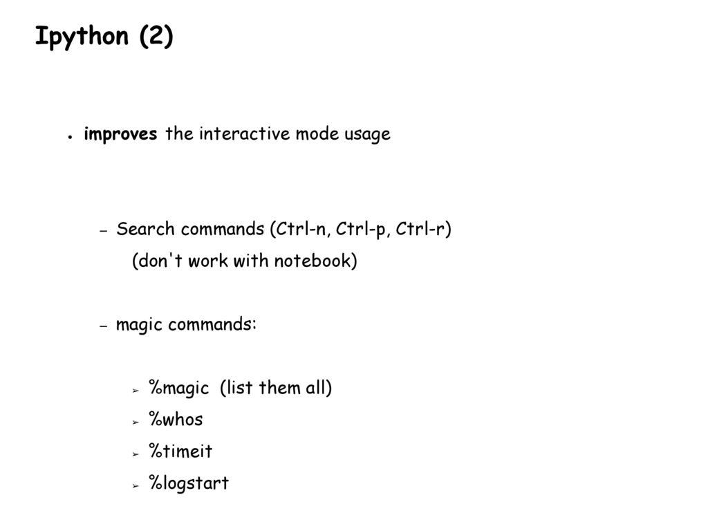 IPYTHON AND MATPLOTLIB Python for computational science