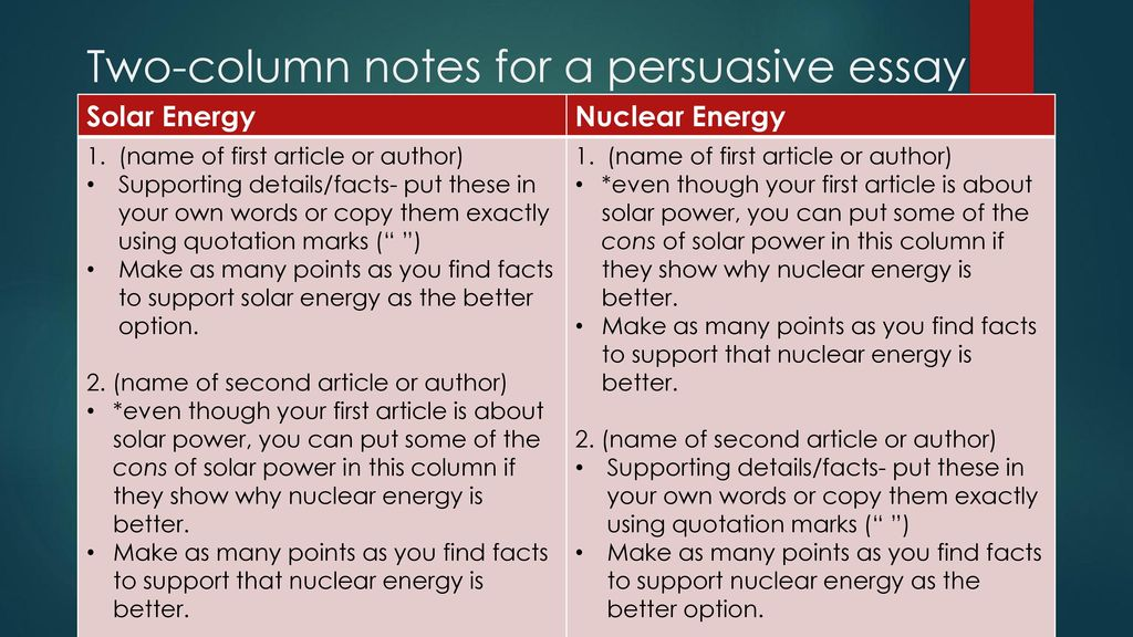 Essay About Healthy Diet Twocolumn Notes For A Persuasive Essay Essay Papers also How To Write An Essay In High School Bellwork What Do You Remember About Fossil Fuels Like Coal And Oil  Paper Essay Writing