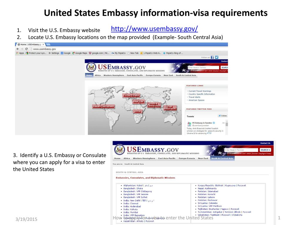United States Embassy information-visa requirements - ppt download