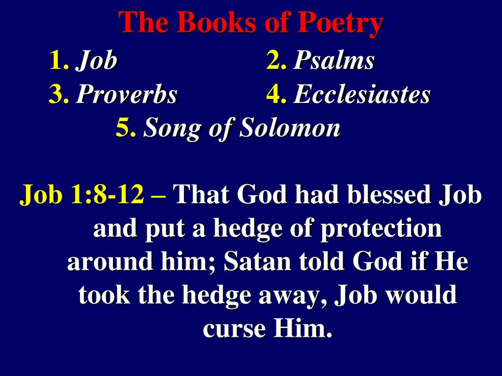 Lesson 15: The Book of Job Scriptures in quotation marks are taken