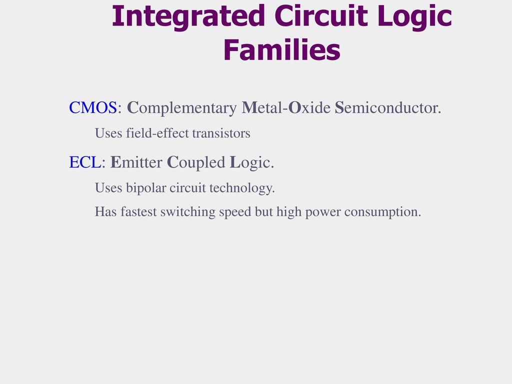 Introduction To Logic Gates Ppt Download Uses Of Integrated Circuit Families
