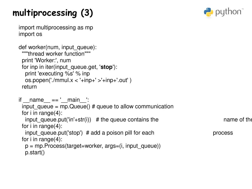 multiprocessing and mpi4py Python for computational science
