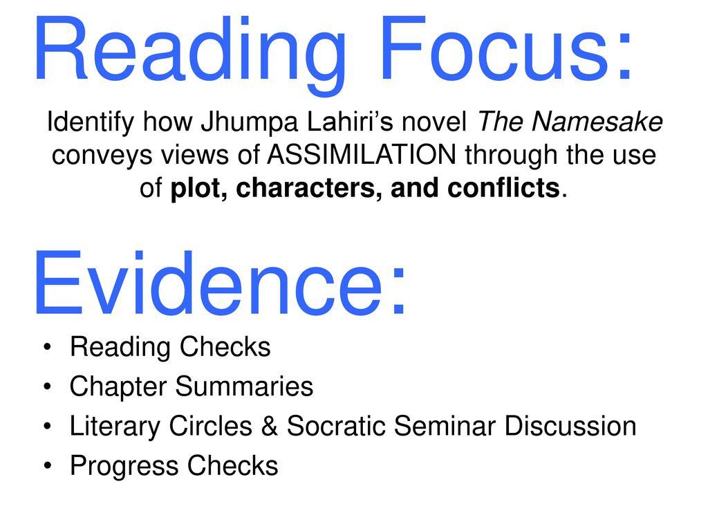 the namesake plot summary