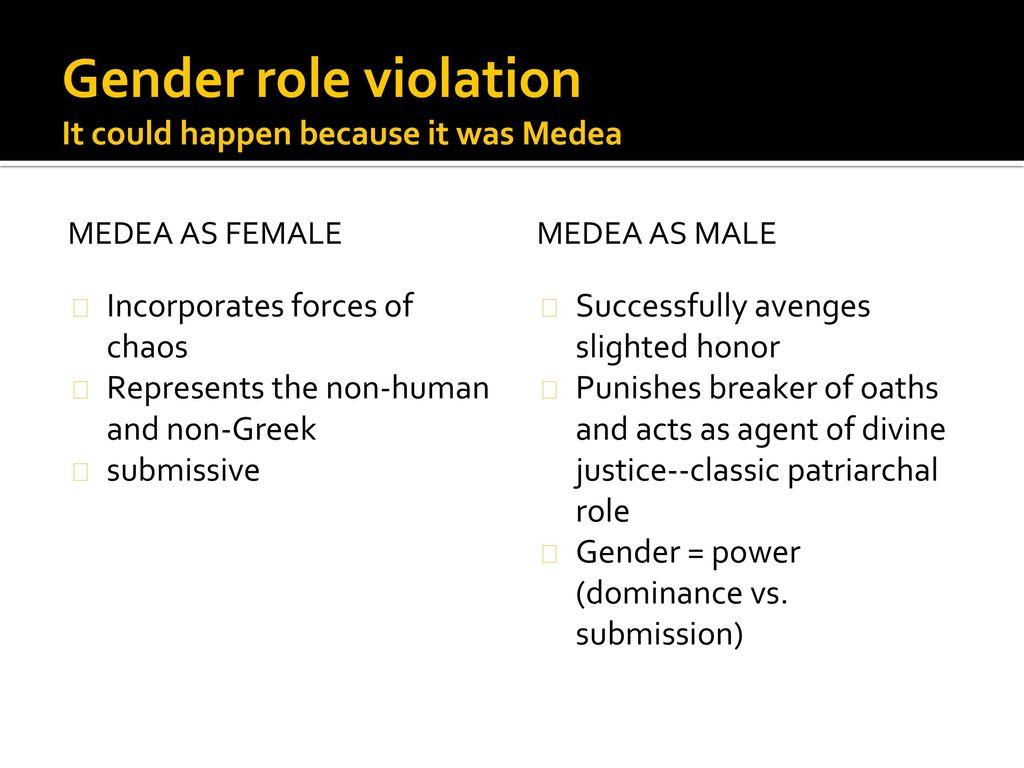 gender roles in medea
