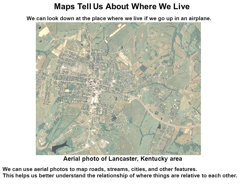 Maps Tell Us About Where We Live Ppt Download - Live aerial maps