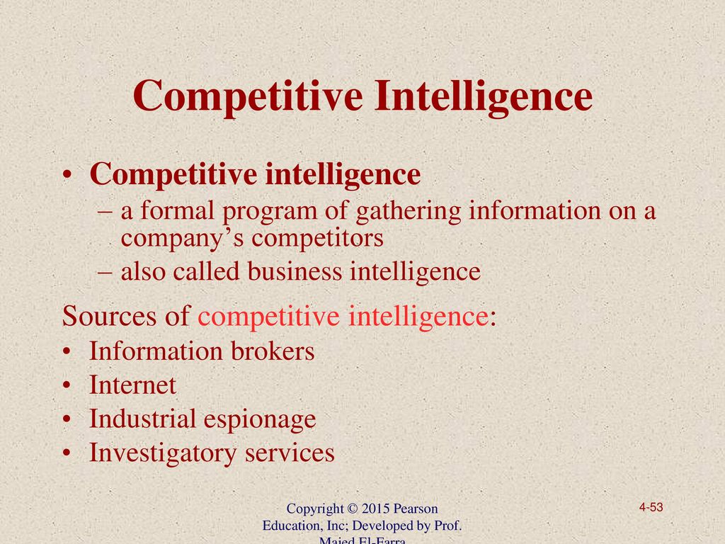 industrial espionage and business intelligence gathering