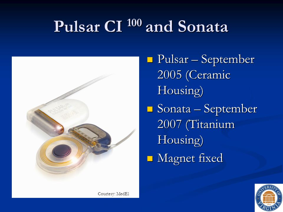 Pulsar CI 100 and Sonata Pulsar – September 2005 (Ceramic Housing)