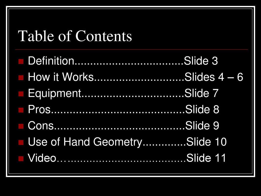 hand geometry by kieran hepworth ppt download