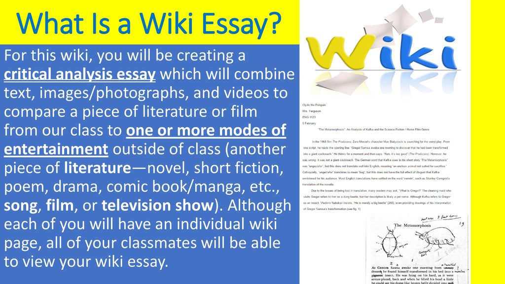 Wiki Essay Critical Analysis  Ppt Download What Is A Wiki Essay