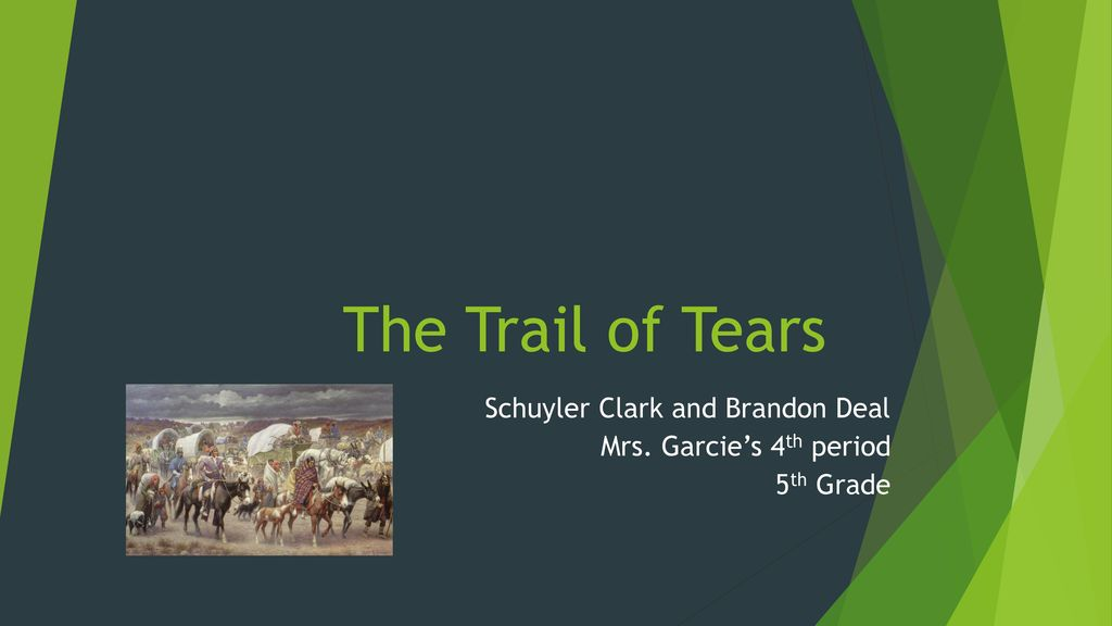 trail of tears for 5th graders