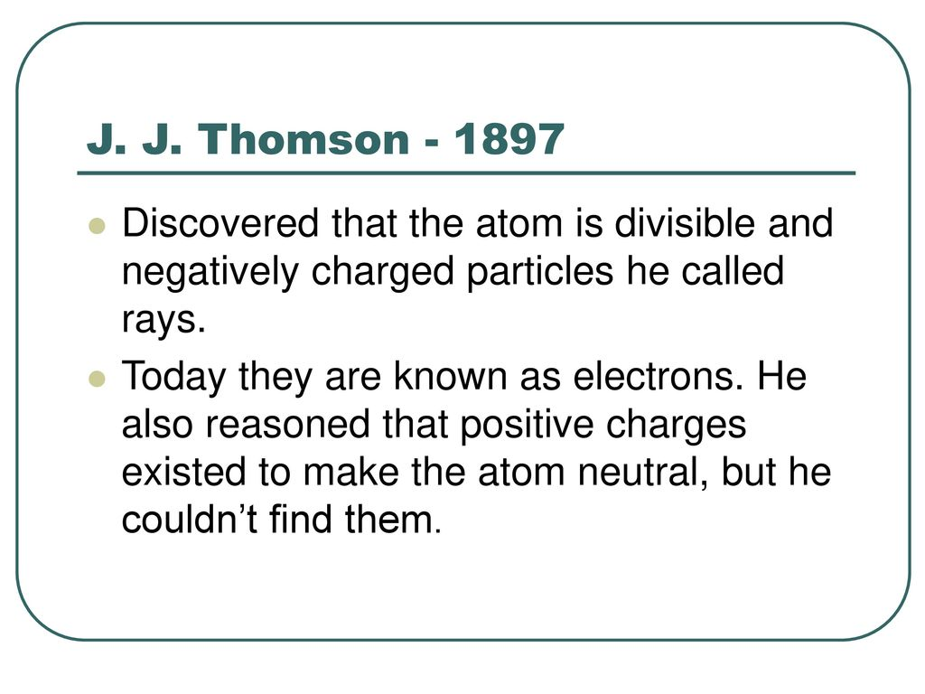 Atomic Theory A Brief History.   ppt download