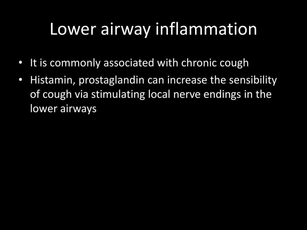 Lower airway inflammation