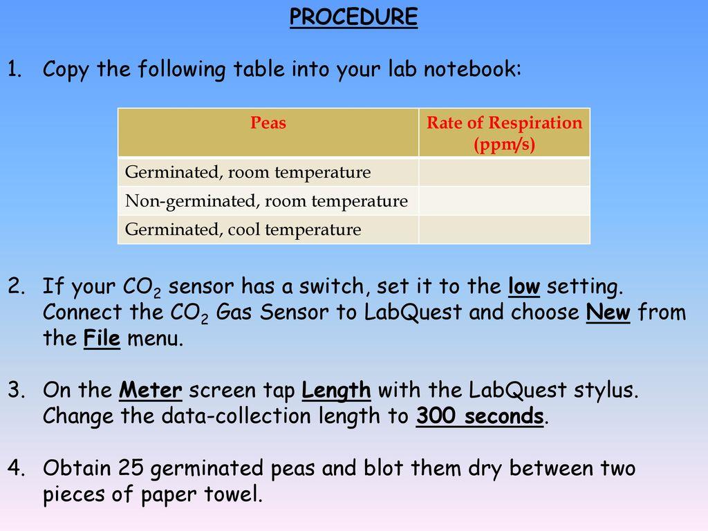 why do non germinating peas undergo cell respiration