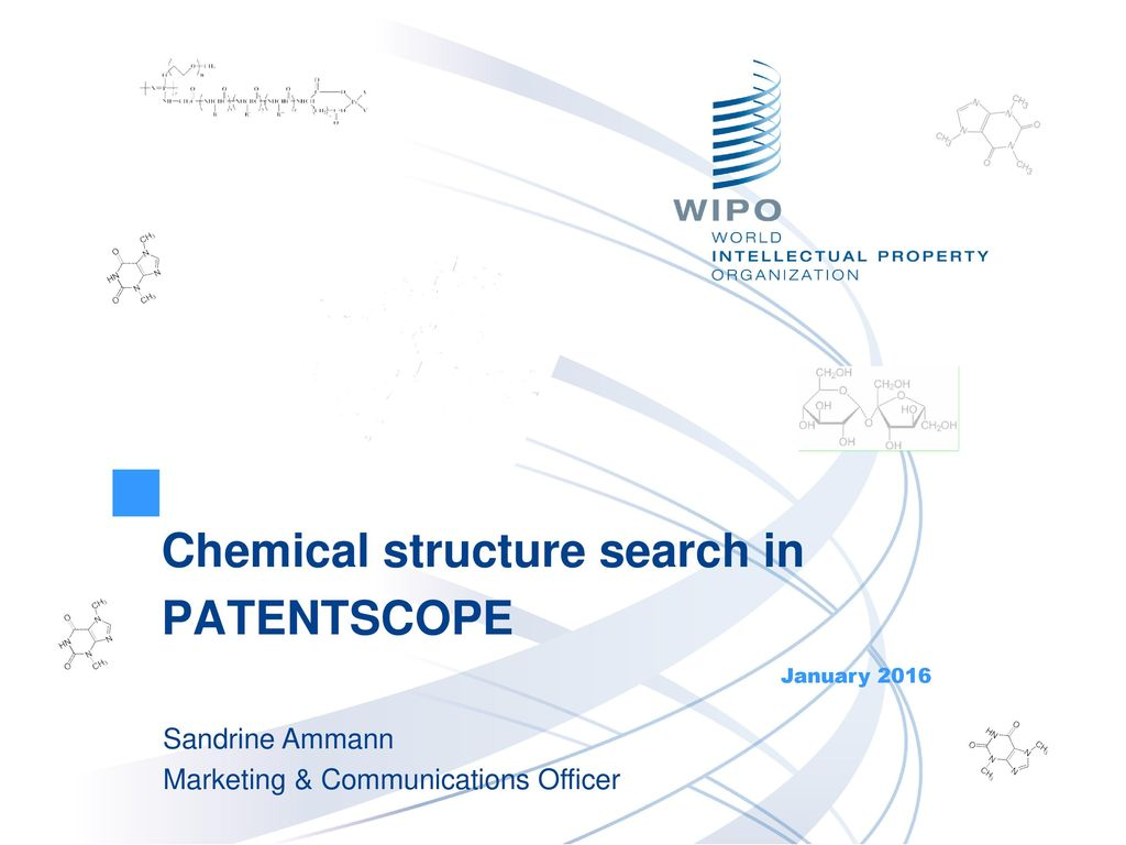 Chemical structure search in PATENTSCOPE - ppt download