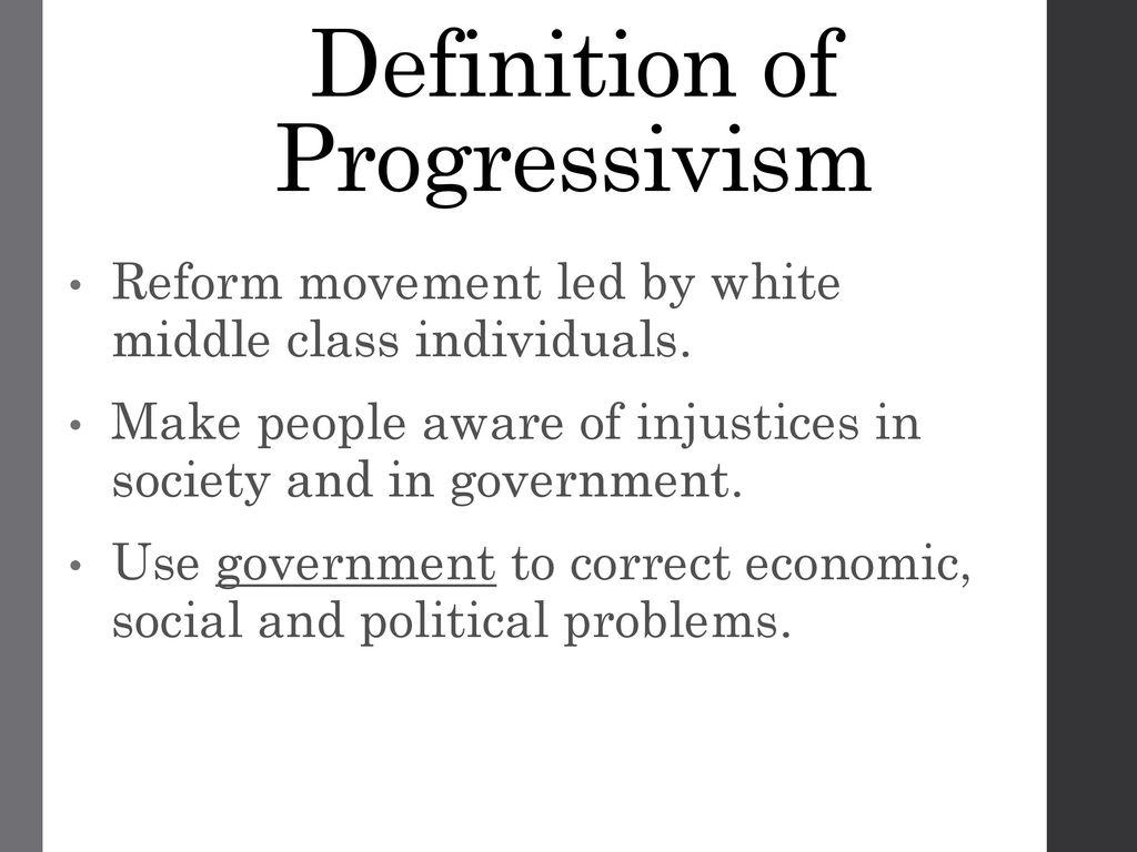 the progressive era. - ppt download
