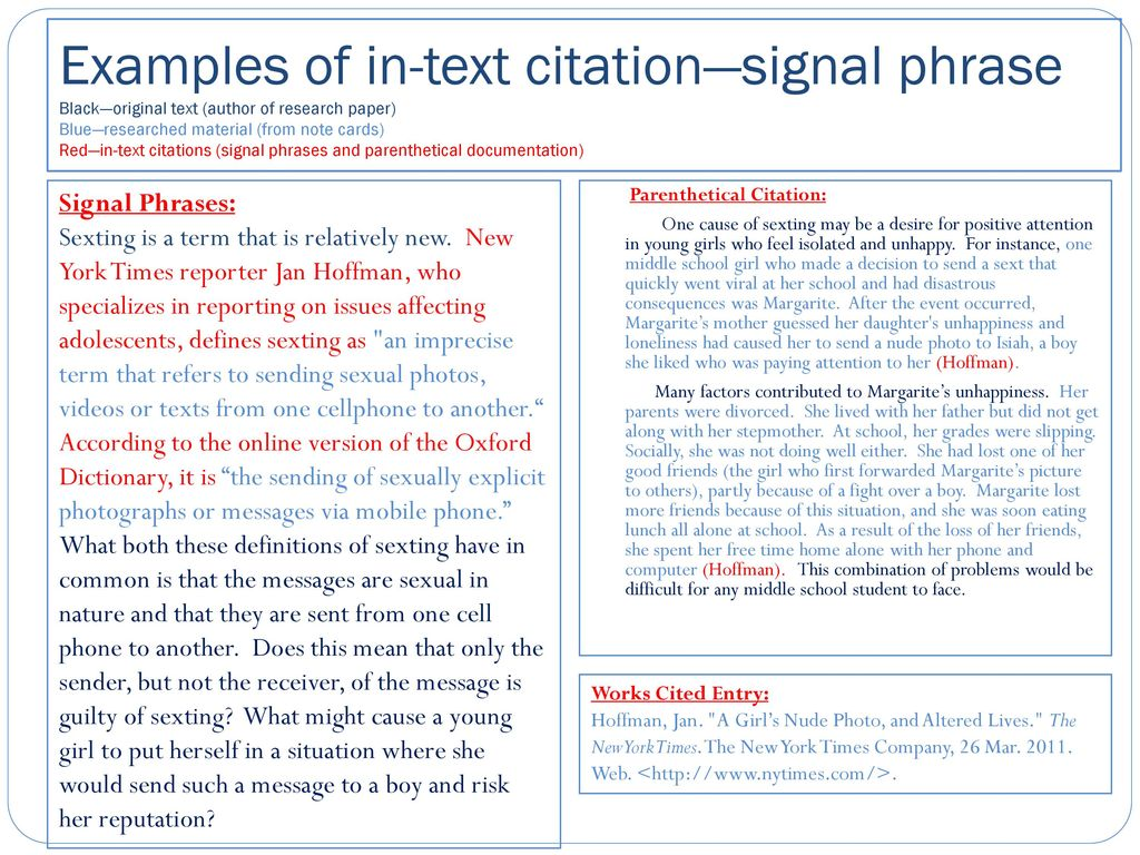 In Text Citations Ppt Download