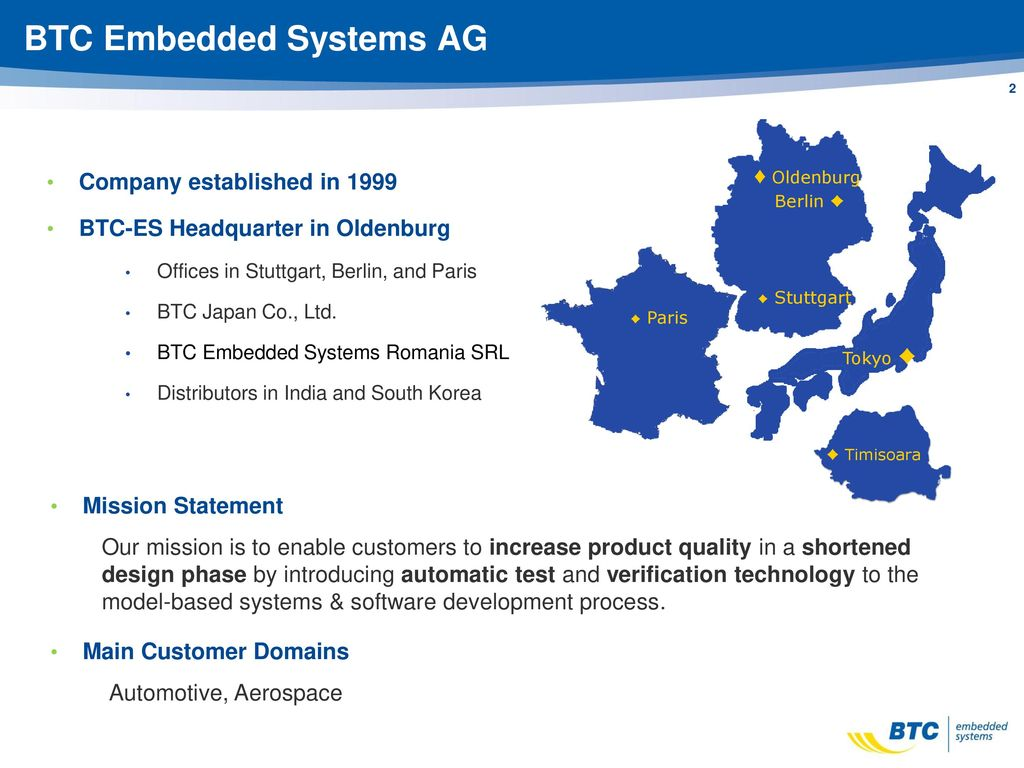btc embedded systems ag oldenburg)