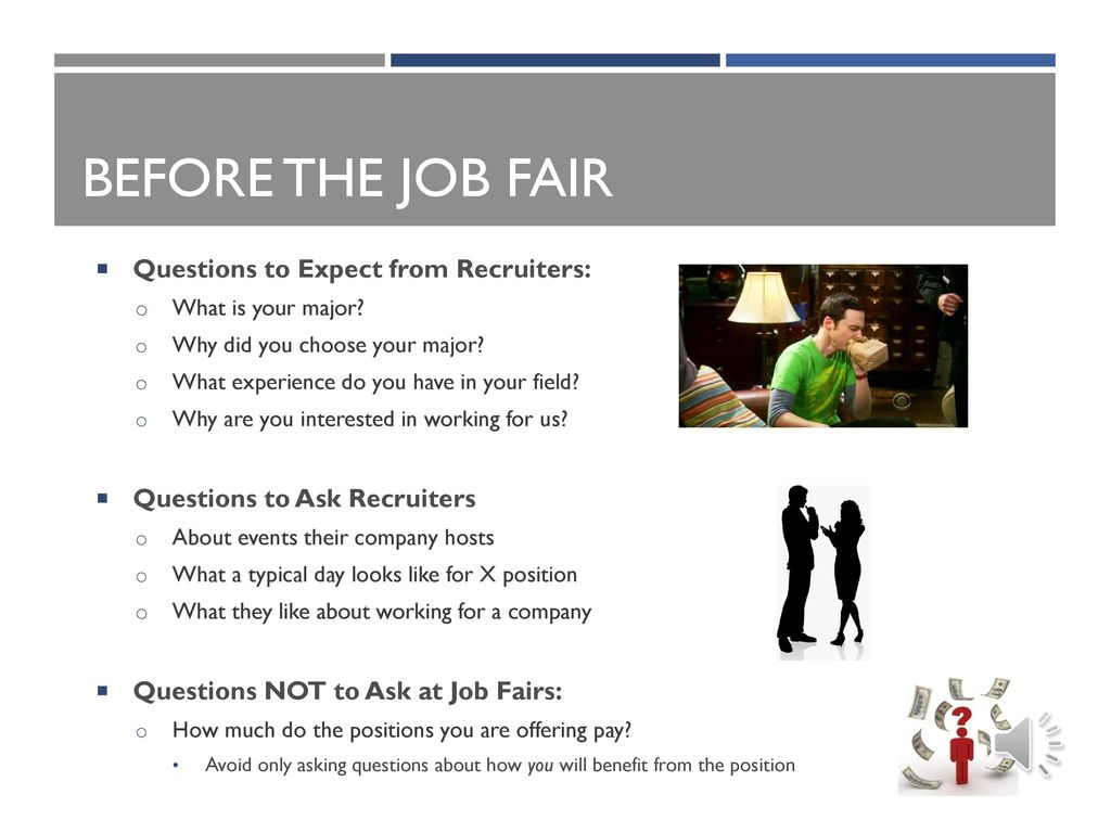 questions to ask at career fair