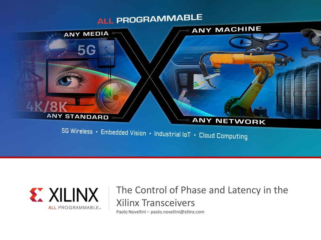 The Control of Phase and Latency in the Xilinx Transceivers