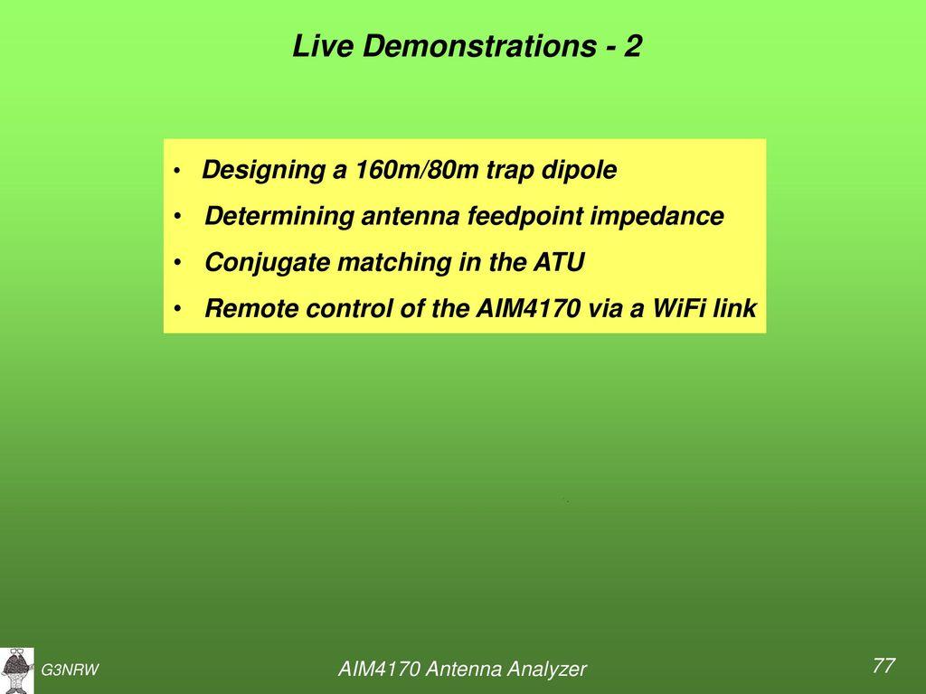 AIM4170 ANTENNA ANALYZER Part 1 - ppt download