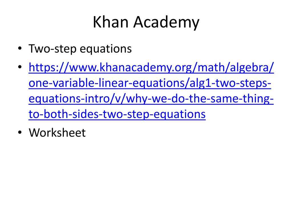 Algebra 150 Unit: Solve One- and Two-Step Equations Lesson Plan #4 ...
