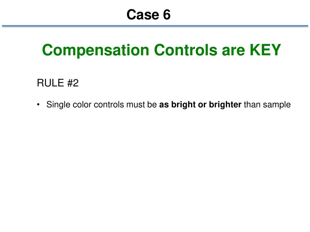 Compensation Controls are KEY