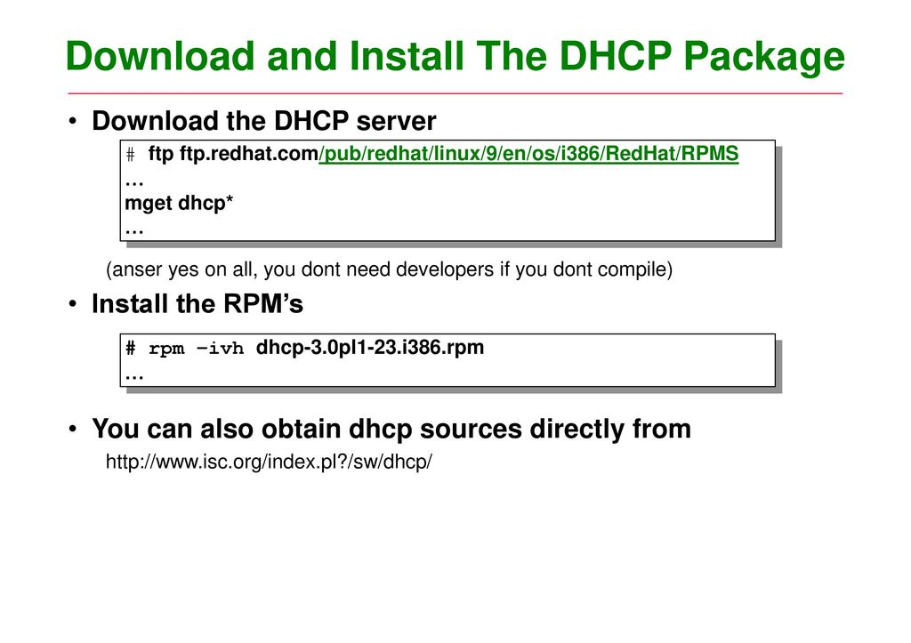 Dhcp server & client objectives contents ppt download.