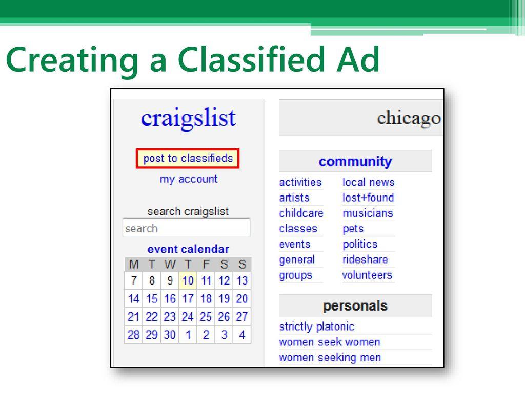 Craigslist Basics Phillip Schneider Information Services Librarian