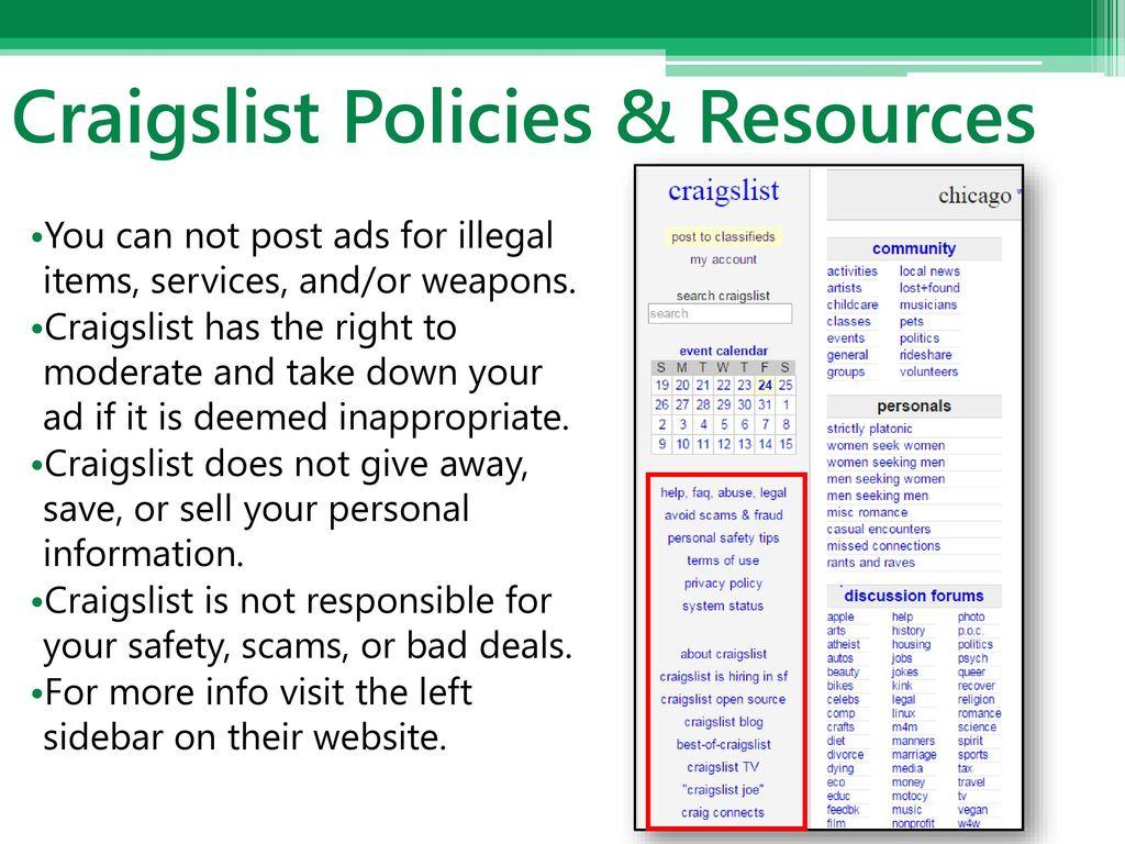 Craigslist Basics Phillip Schneider Information Services