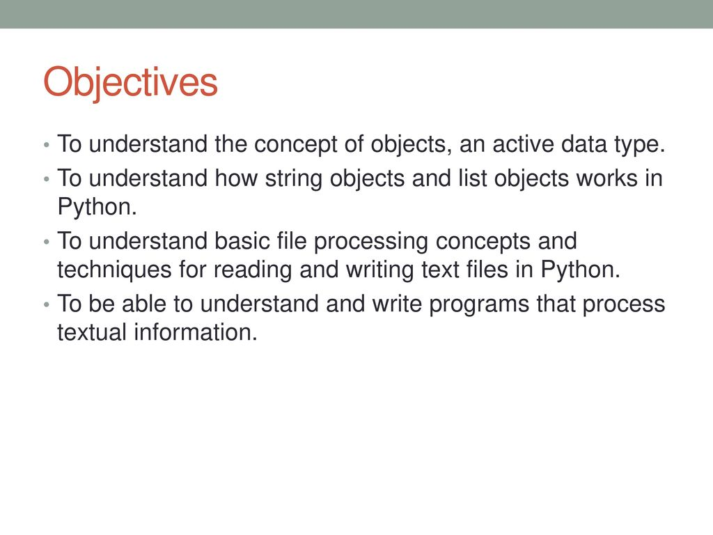Python: Sequences: Strings, Lists and files (Part II) - ppt