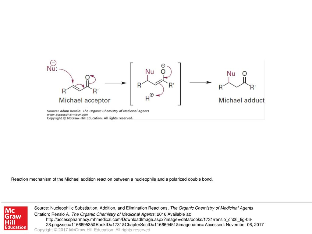 Reaction mechanism of the Michael addition reaction between
