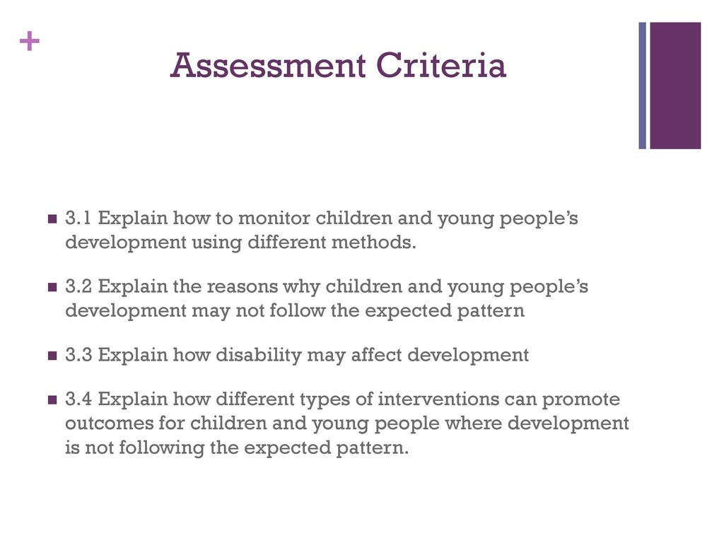 3.3 explain how disability may affect development