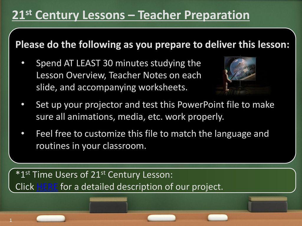 21st Century Lessons – Teacher Preparation - ppt download