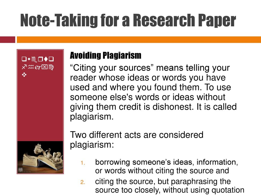 note taking for research papers