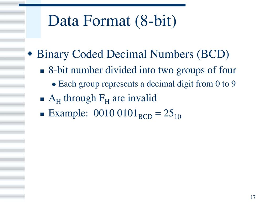 Ipcowala Institute Of Engineering Technology Dharmaj Ppt Download Bcd To Binary Coded Decimal Converter Data 17 Format 8 Bit Numbers