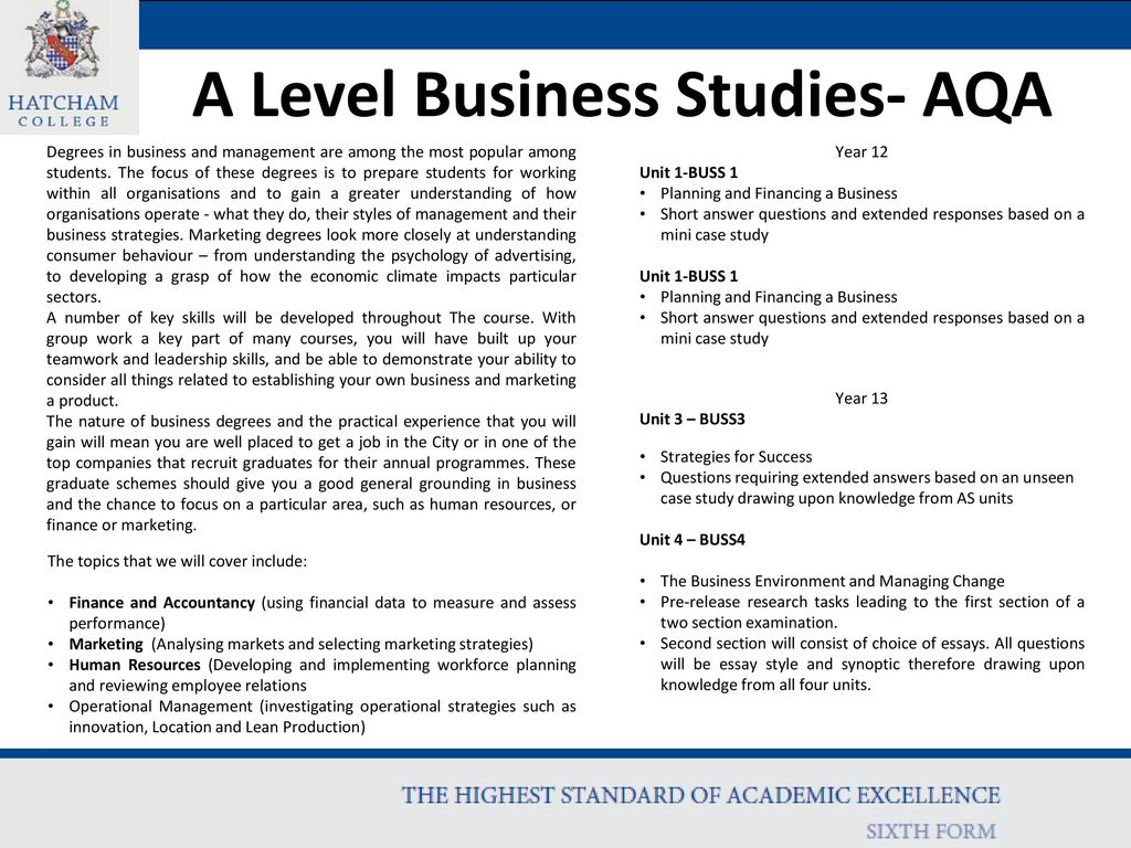 A Level Business Studies- AQA - ppt download