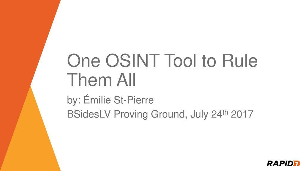 Osint Tools 2019