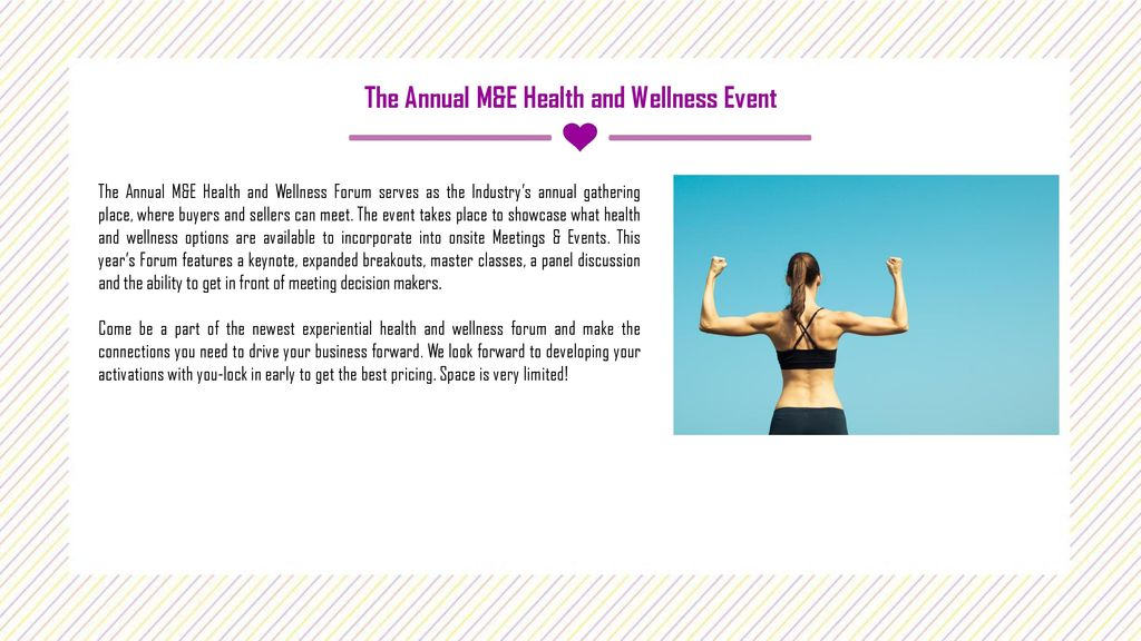 HEALTH AND WELLNESS FORUM - ppt download
