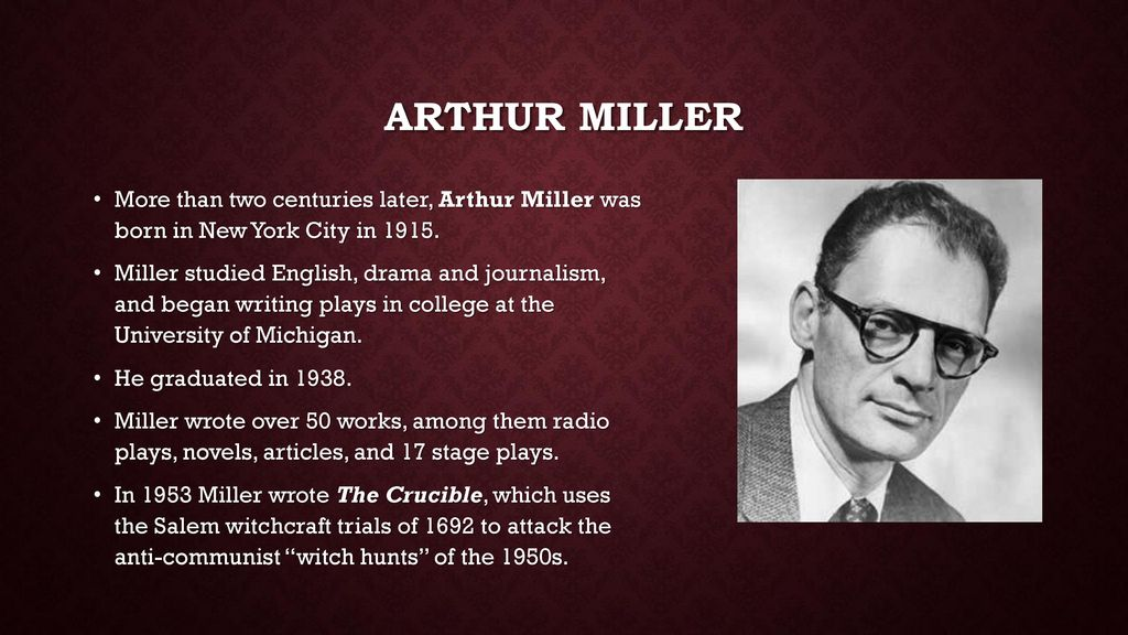 By Arthur Miller  - ppt download