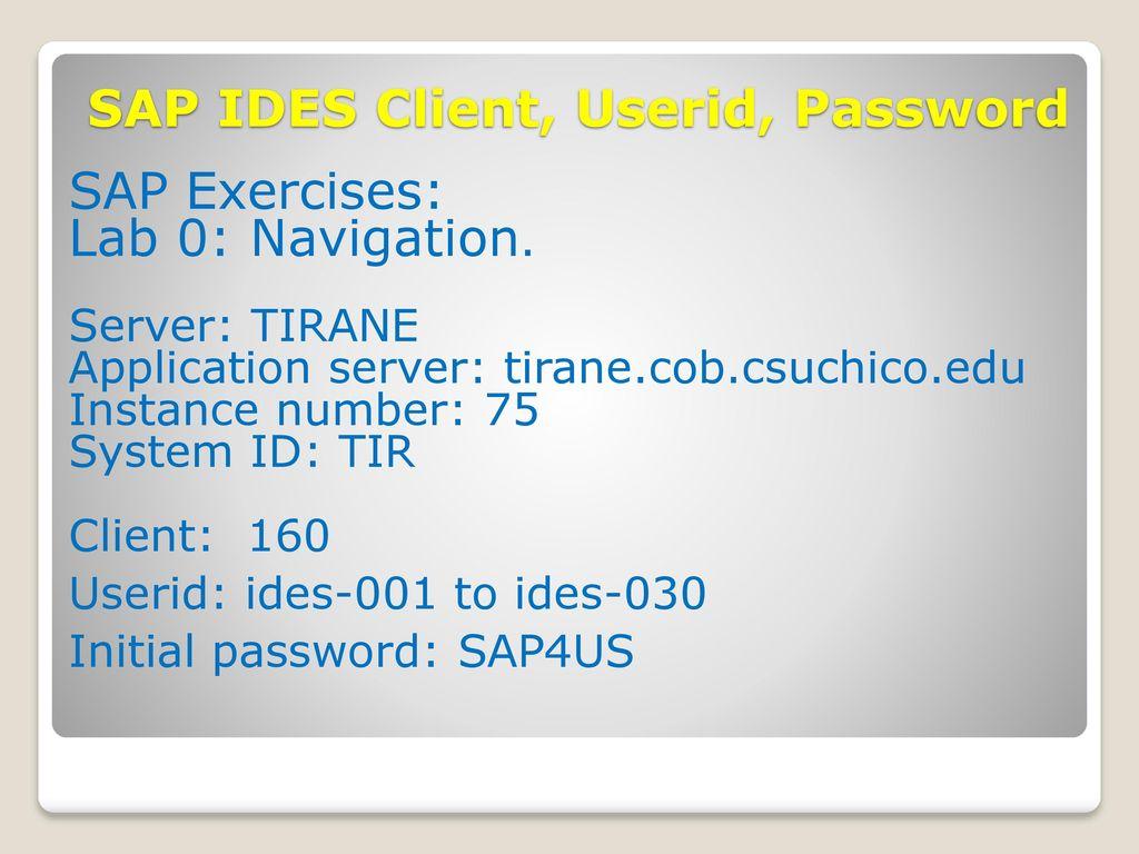 SAP Navigation EGS 5622 Enterprise Systems Integration Fall, ppt