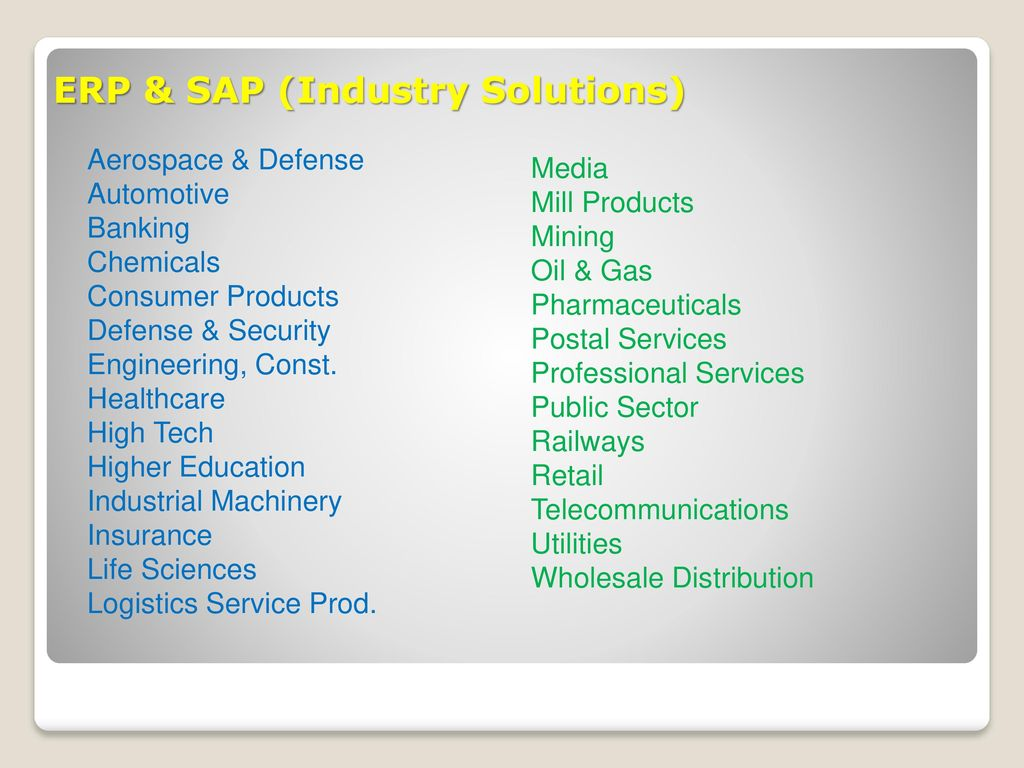 SAP Navigation EGS 5622 Enterprise Systems Integration Fall