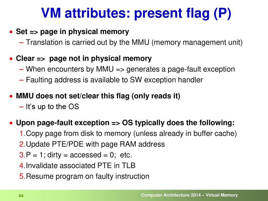 attributes of computer memory