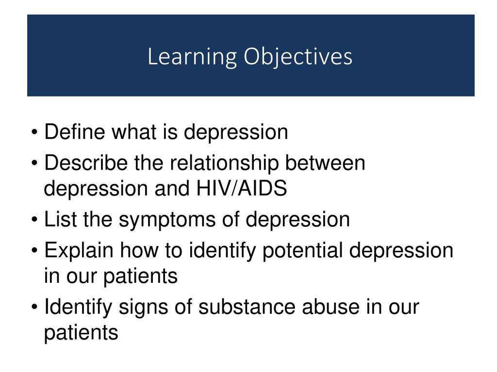 Watch HIV and Depression video