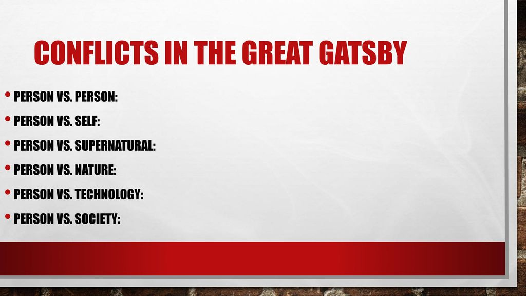 main conflict in the great gatsby