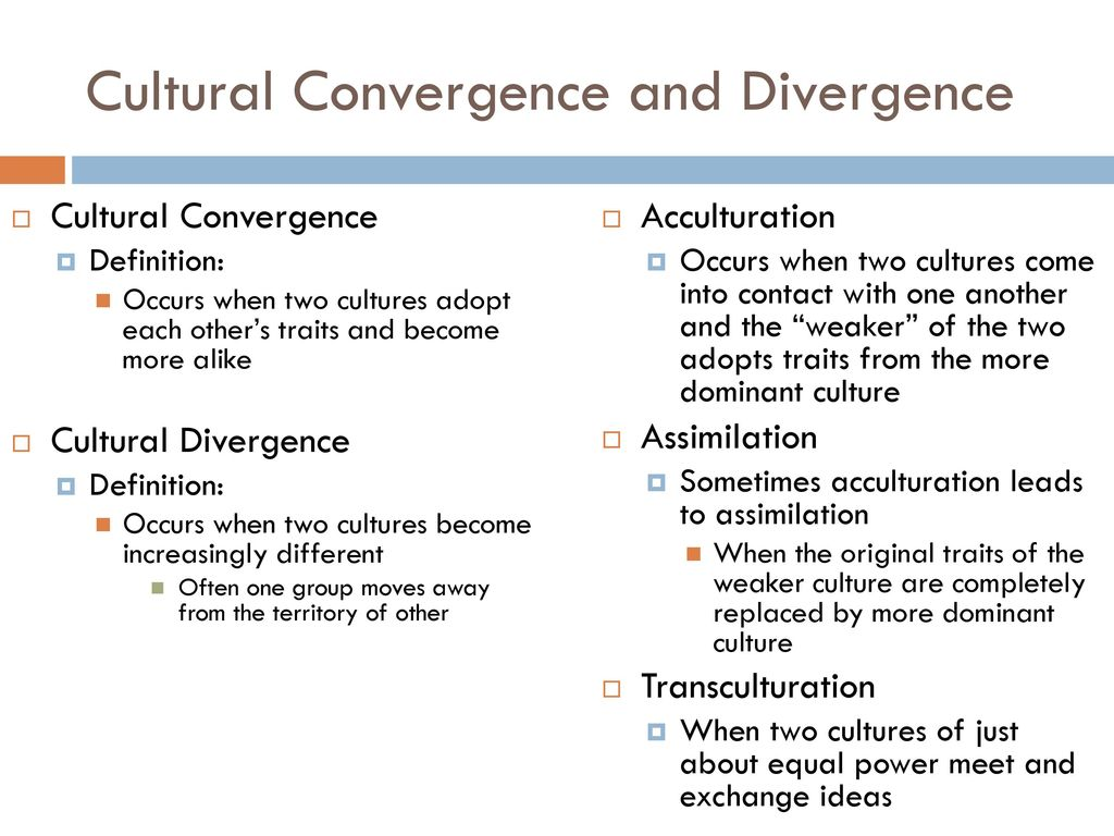 cultural divergence definition